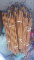 Colorful pvc coated/natural wooden broom sticks for cleaning tools