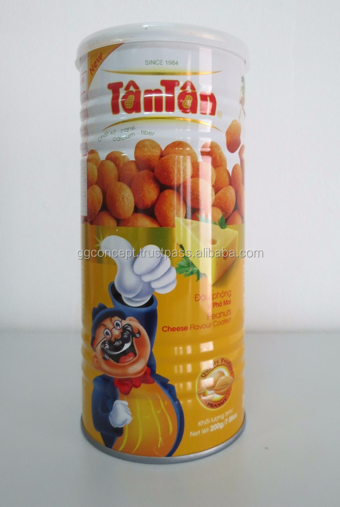 New product - Tan Tan Cheese Taste Caoted Peannuts 200g Box/ Wholesale snack /Vegetable Snacks / Dried