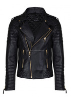 New Design Quilted leather biker Jacket