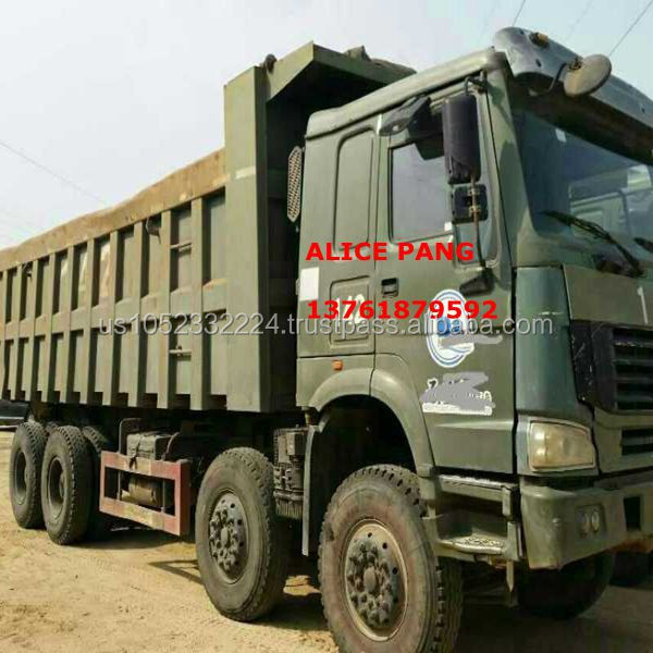 8*4 USED Top quality HOWO BIG CARGO DUMP TRUCK