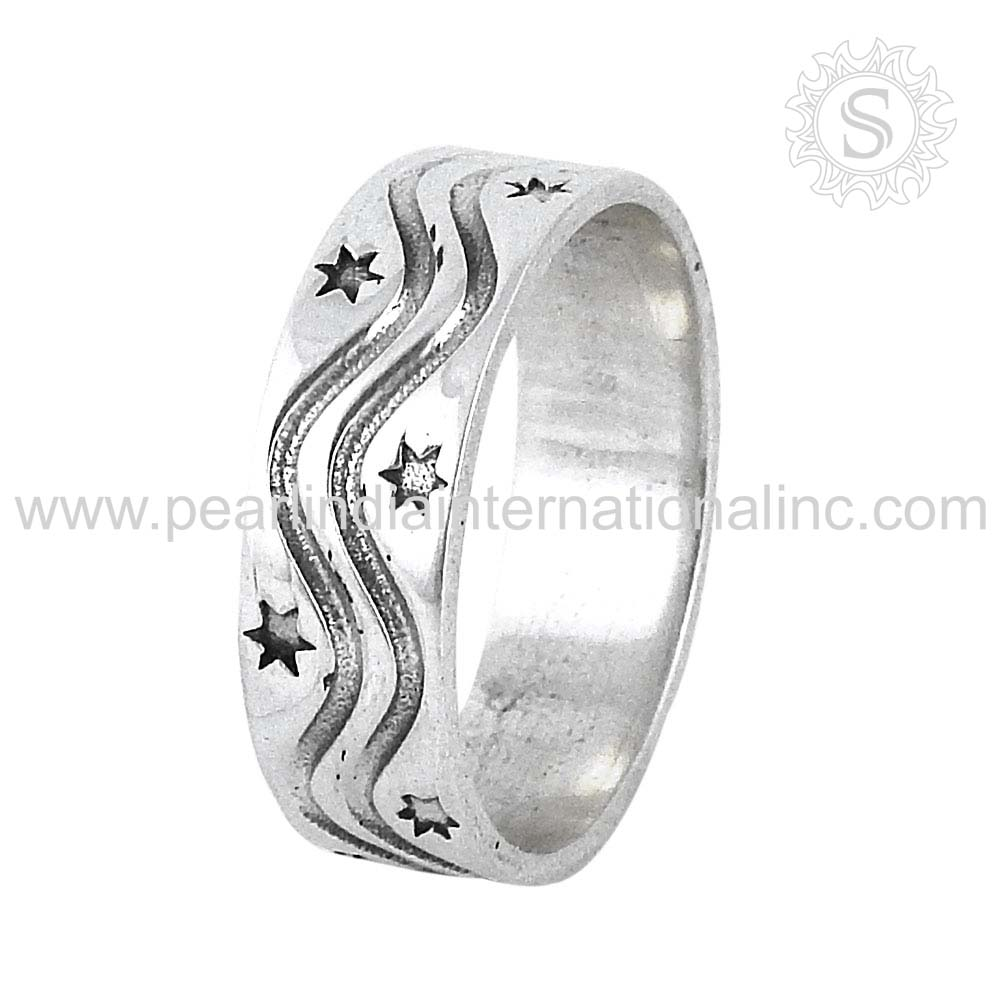 Shining ster design solid silver ring 925 sterling silver jewelry wholesale silver jewelry manufacturer