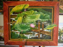 H_waterproof glossy digital printing cotton canvas oil painting