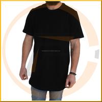 Low price wholesale v neck t shirts men longline t shirt