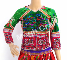 Banjara Embroidered Mirror Work Blouse - Girls Tribal Banjara Mirror Work Top