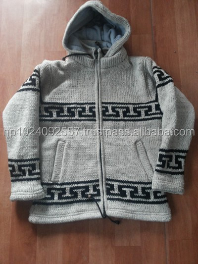 Mens knitted Sheep Wool Jacket for Bulk Order
