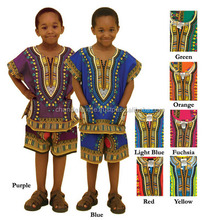 African Dashiki Children's Dashiki & Shorts Set ONE SIZE ONLY African Dresses Africa Clothing wholesale