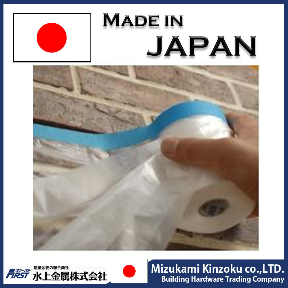 durable and pretaped painting tape with corona treated PE film made in Japan