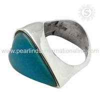 magnificent Arizona Turquoise Ring 925 Silver Jewelry Indian Design Ring Handmade Silver Jewellery