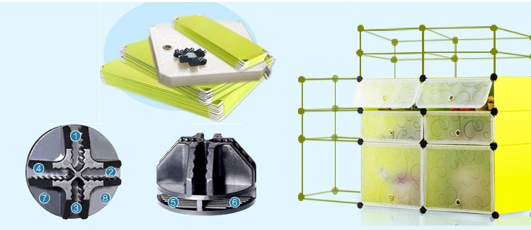 Easy to remove plastic bathroom shoe storage rack