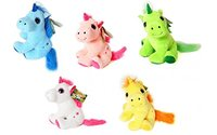 "THE MAGIC UNICORNS (T3) - Plush Toy Unicorn Yellow (11""/30cm) - Very good quality - Different models to collect"