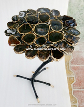 Natural Black Agate Table Top