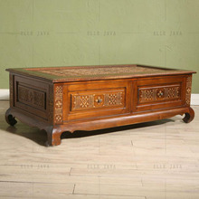 Antique Style Hand Carving Wooden Coffee Table