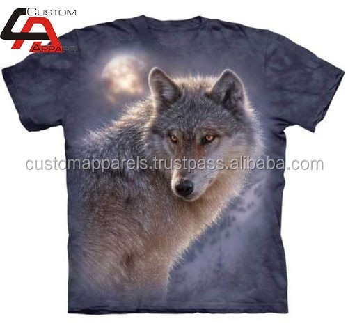 2015 Top All Over Print Sublimation Wolf T Shirts / Get Your Own Designed Shirts In Competitive Prices From PAkistan