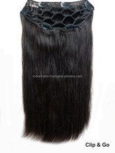 One Piece Clip in Full Head Human Hair Extensions