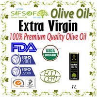 Pure Natural Extra Virgin Olive Oil.Organic Olive Oil with FDA Certification. 1L metallic Tin