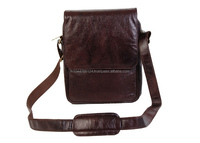 Brown Satchel Bag / Mens Leather Messenger Bag In Brown Genuine Leather/ Sling Bag