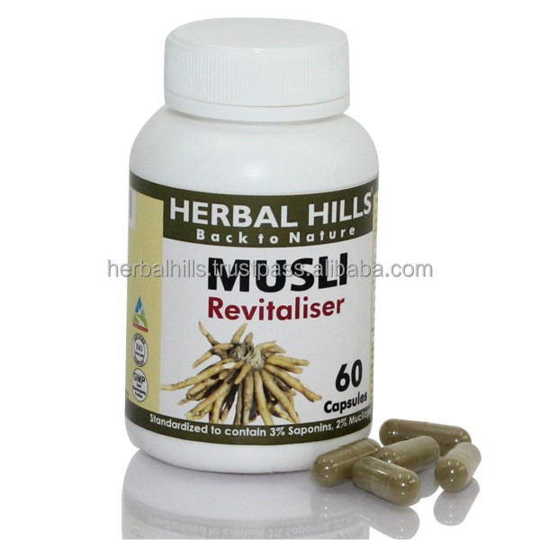 Chlorophytum Borivilianum Capsules / Safed Musli For Men