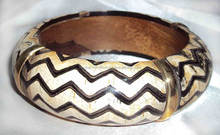 Zig Zag Pattern Designer Horn Bangle For Women 10490