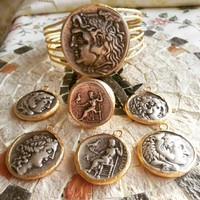 Coin Ring,Roma coins jewellery,Gold plated