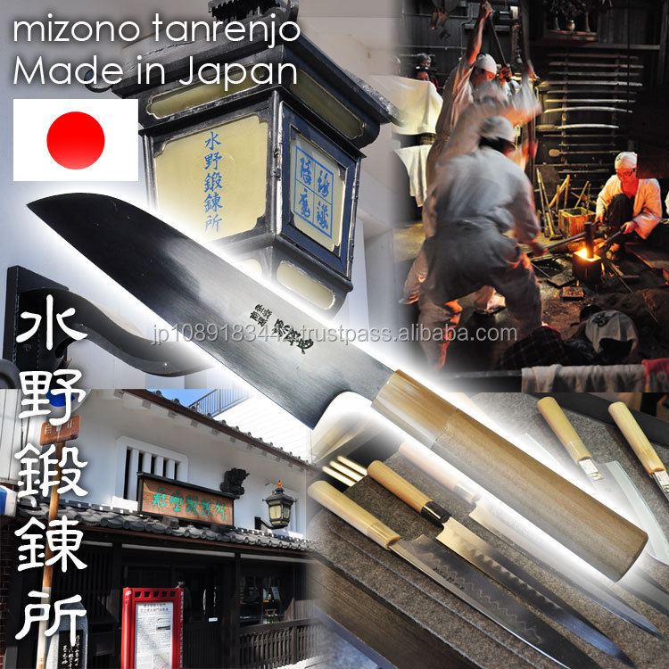 High quality and blacksmith forging Mizuno Tanrenjo Kitchen Knife with hardened-edged
