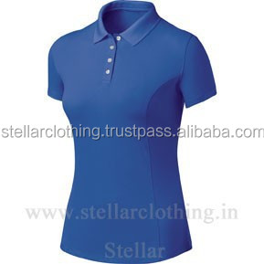 Ladies's Polo Pique Short Sleeve T-shirt