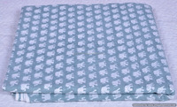 Indian Hand Block Printed Elephant Sanganeri Print Throw 100% Pure Cotton Handmade Fabric