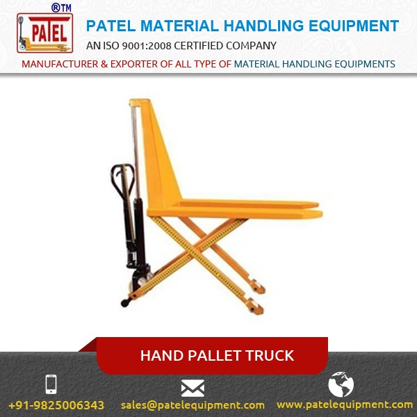 Hand Pallet Truck with Special Parts at Lowest Market Price