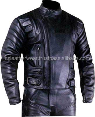 Black motorcycle jacket biker leather motorcycle clothing manufacturer