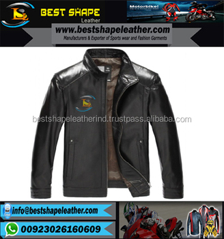 Fashion buy men leather jacket with hood online
