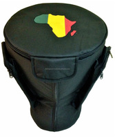 African Djembe Drums Gig Bags Pro Nylon Black with African Map