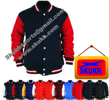 High Quality Varsity Jackets Varsity Letterman Wool Jacket with Leather Sleeves