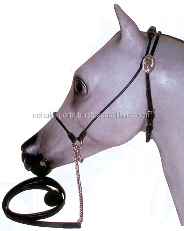 English leather solid brass hardware wholesale horse halter