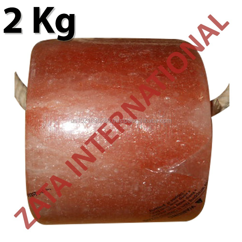 Himalayan Natural Rock Cylinder Salt Licks Licking Feed Mineral Stone 2 Kg for Livestock Cattle Horse Camel Cow Sheep