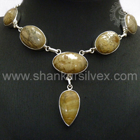 Picture Jasper !! Handmade Silver Necklaces, Gemstone Silver Jewellery, Wholesale 925 Customized Silver Jewellery NKCB2017-2