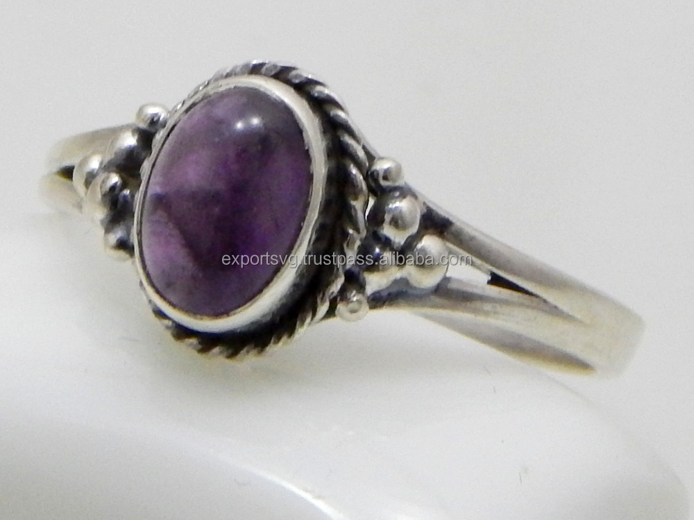 Amethyst Gemstone 925 Sterling Silver Ring ,silver jewelry 925 Rings