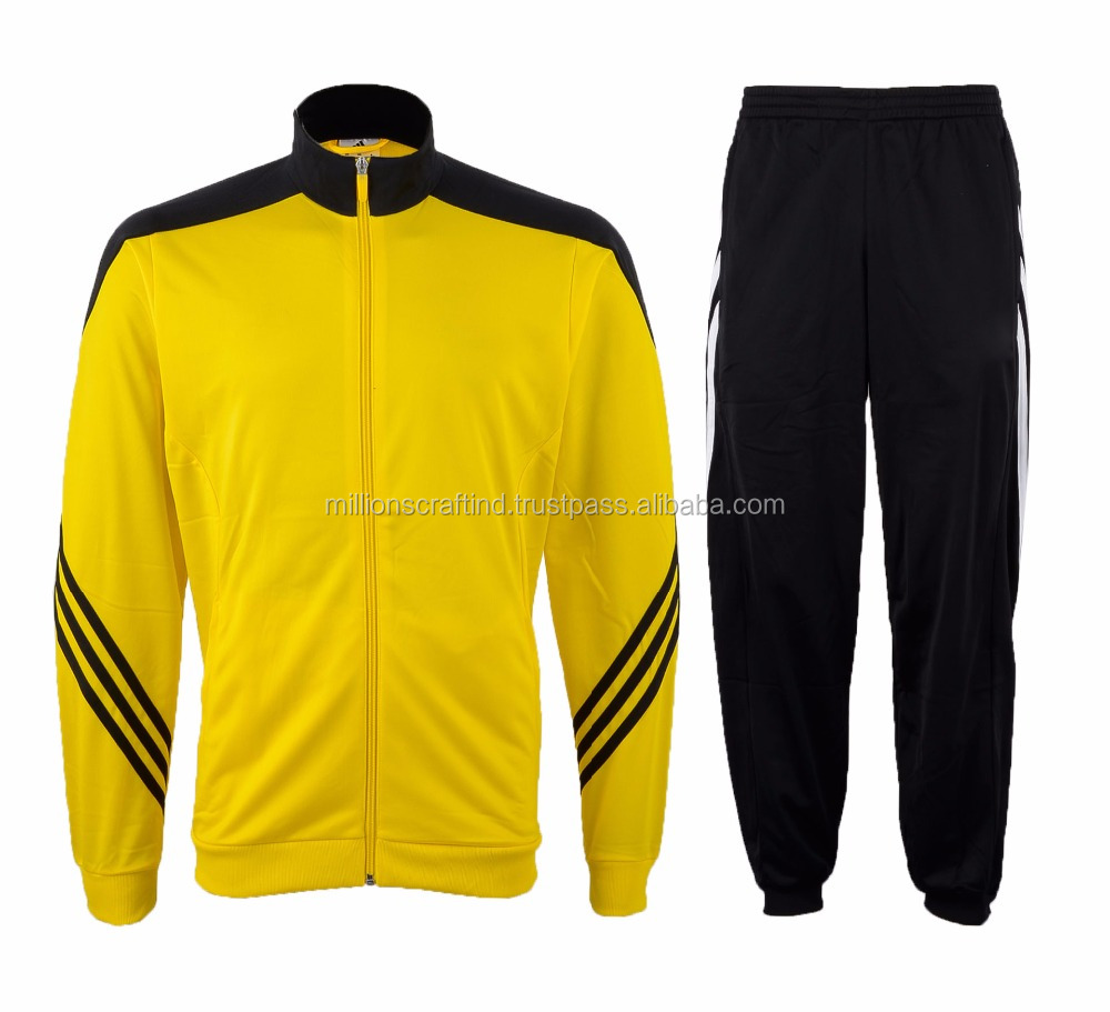 Nice Yellow and Black Tracksuit Famous style Fashion Mens Clothing 2015 Sports Track Suits for Men