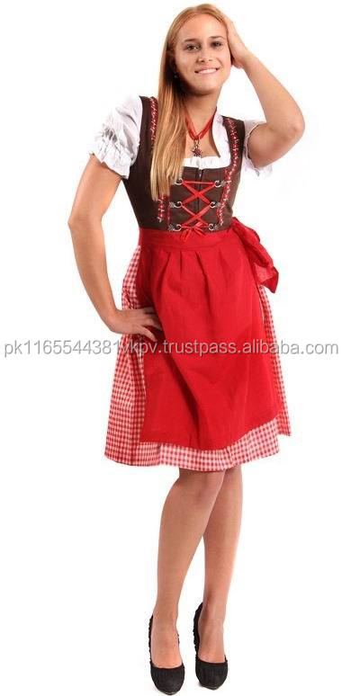 CHEAP TRACHTEN DIRNDL OKTOBERFEST DRESS, TRADITIONAL BAVARIAN DIRNDL,BAVARIAN GERMAN OKTOBERFEST DIRNDL DRESS LADIES