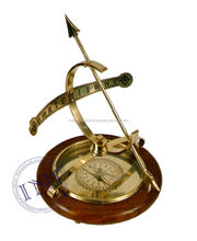 Armilliary Sundial With Compass , Brass Armilliary Sphares, Table Decor Item