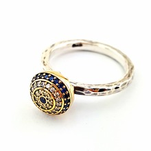 Wholesale Handmade Turkish Silver Pave Ring, Zirconia Rhodium Plated, 925 Sterling Silver Ring