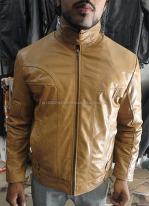 Custom design hot sale leather jacket for men/pure leather jacket manufacturer company