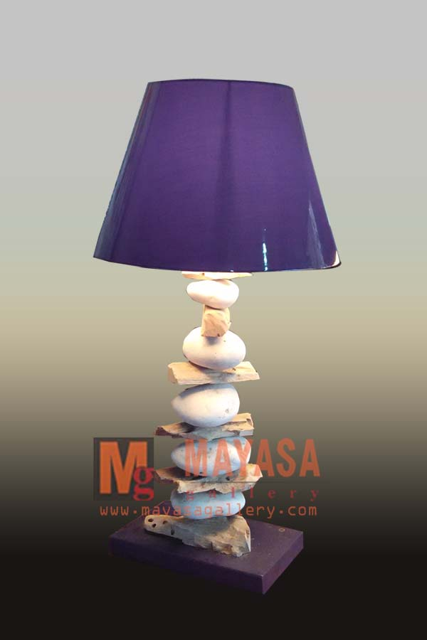Wood and Stone Lamp Indonesian Furniture