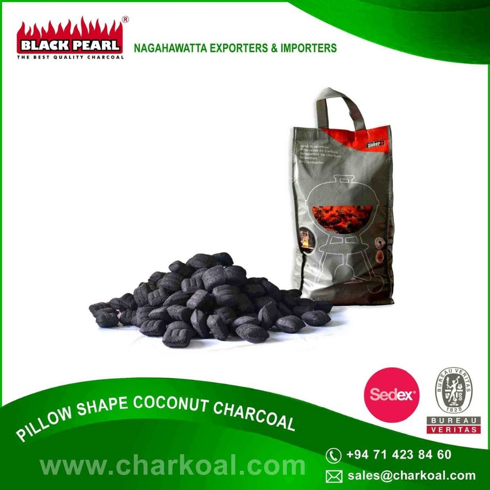 Wholesale Exporter of Fine Quality Pillow Shape Charcoal for Barbeque