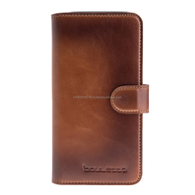 New Premium Genuine Leather Wallet Phone Case for Samsung S8 Plus