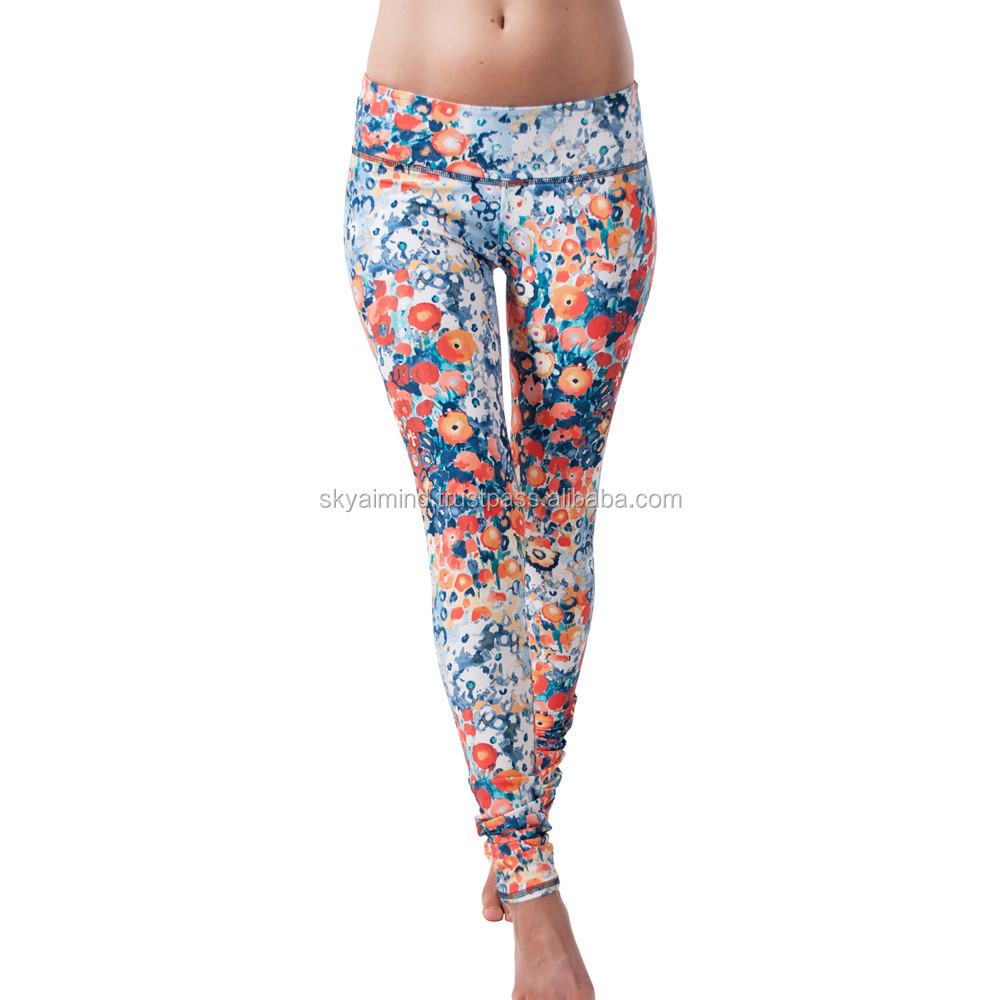 own picture sublimation leggings pants, custom made sublimation tights/ fitness tights/ 3d sublimation tights