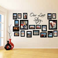 Vinyl Wall Decal Picture Frames Design Our Love Story Photos Art Decor Sticker Photo Frame Removable Stickers