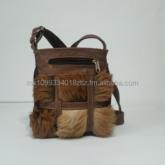 Genuine Goatskin Fur Leather Woman Handbag