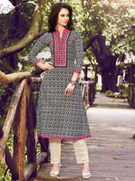 Net kurti designs with embroidery