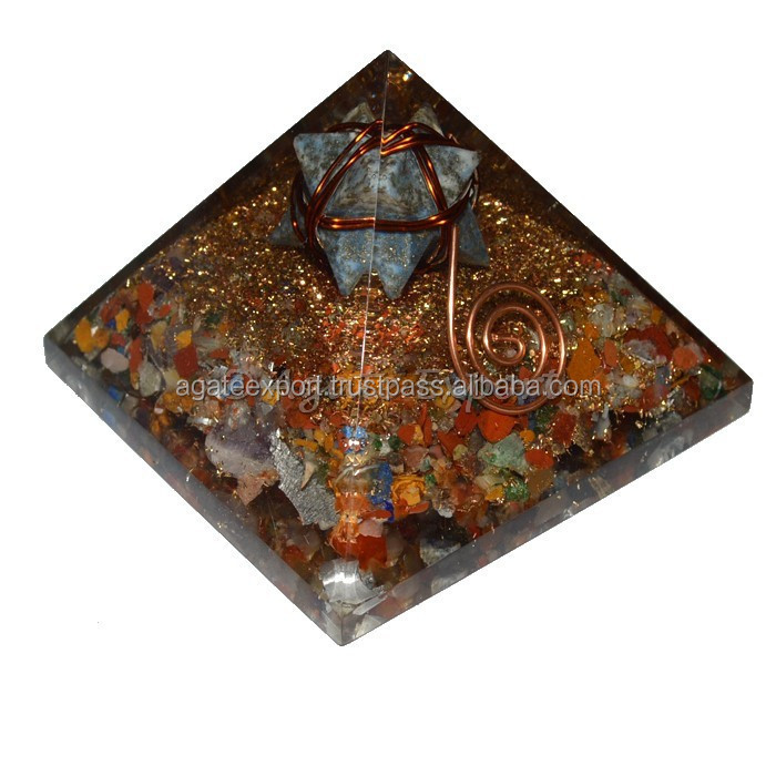 Buy Wholesale Orgone Chakra Stone Pyramids with Merkaba