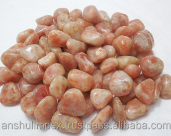 Sunstone Semi precious Tumbled Stone for healing, meditation and decoration