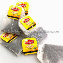 Empty tea bag with string and tag, lipton tea bags, lipton yellow label tea bags